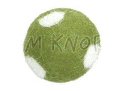 "Jim-Knopf Filz-Applikation ""Großer Punkte-Ball"" 3cm grün"