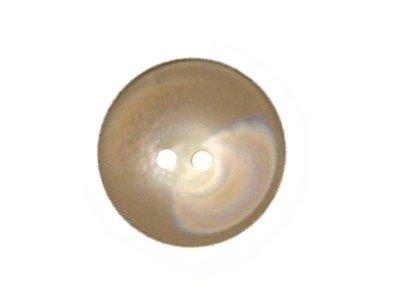 Runder Knopf nach innen gewölbt, glänzend, beige, 20mm