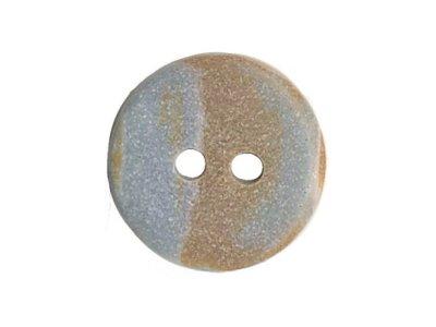Runder Knopf meliert grau 15mm