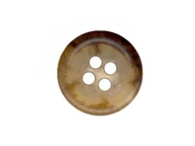 Runder Knopf, beige, braun marmoriert 10mm