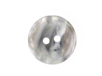 Runder Knopf, marmoriert weiß 15mm