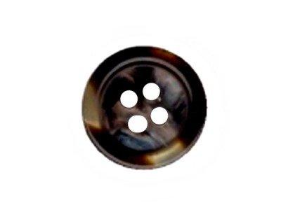 Runder Knopf, leicht glitzernd, dunkelbraun-marmoriert, 15mm