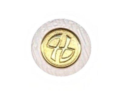 Runder Knopf, weiß, 15mm