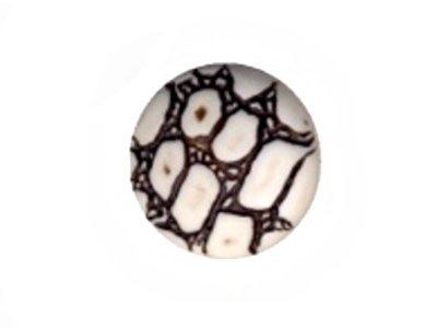 Runder gemusterter Knopf, weiß, 17mm