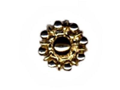 """Knopf """"Goldene Blüte"""", silber, 13mm"""