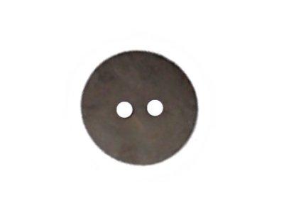 Runder Knopf mit leichtem Glitzerschimmer, anthrazit, 15mm
