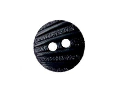 Runder Knopf mit Gravur 13mm nachtblau