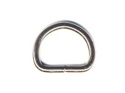 D-Ring für Halfter und Taschen vernickelt 18-20mm Innenmaß silber