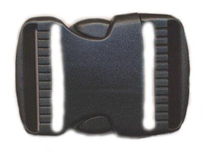 Klickverschluß Steckverschluß gebogen 50mm schwarz