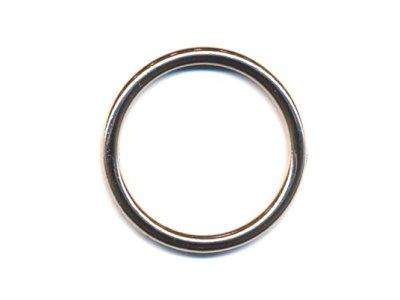 O-Ring Rundring vernickelt 30mm silber