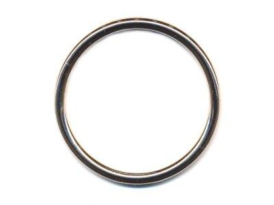 O-Ring Rundring vernickelt 40mm silber