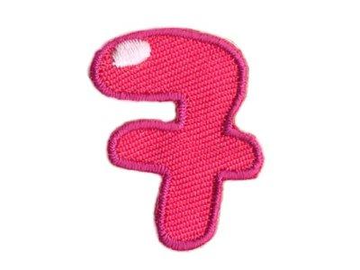"""Applikation Zahl """"7"""" zum Aufbügeln o. Kleben pink"""