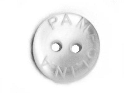 Pampolina-Knopf hellgrau 12mm