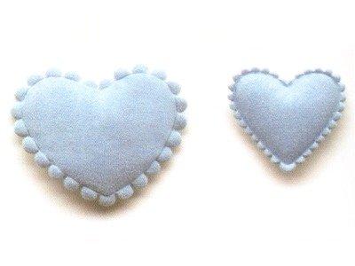 2er Set Herzen in blau von Roos