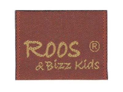 Roos & Bizz Kids Webetikett rotbraun