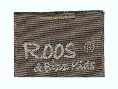 Roos & Bizz Kids Webetikett dunkles olive