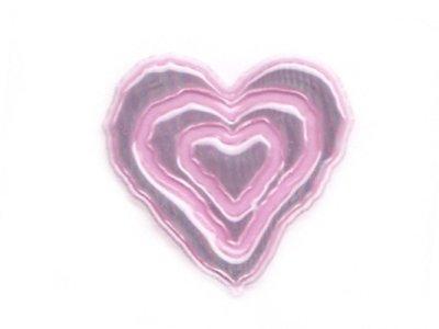 """Applikation """"Herz"""" gummiert rosa zum Aufnähen"""