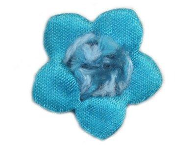 Blume Ø 27mm zum Aufnähen in türkis