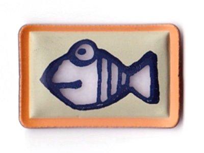 """Applikation """"Fisch"""" gummiert zum Aufnähen"""
