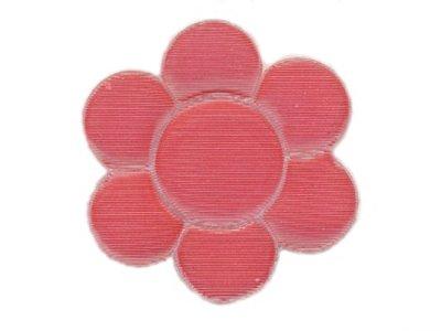 """Applikation """"Blümchen"""" Gummi geriffelt pink z. Aufbügel"""