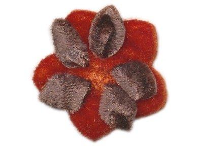 Blume aus Pannesamt Ø 28mm z. Aufnähen rost