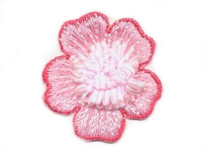 """Applikation """"Blüte"""" pink zum Aufnähen"""