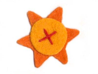 TogsZone Applikation Sternenblumezum Aufbügeln orange