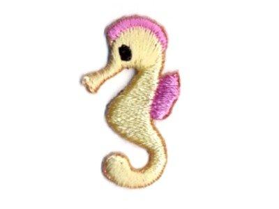 Stick Applikation kleines Seepferdchen gelb z. Aufbügel