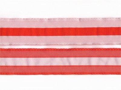 gestreiftes Band 20mm beiseitig verwendbar weiß-rot