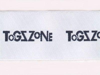 """# Webband 30mm """"Togzzone"""" weiß"""