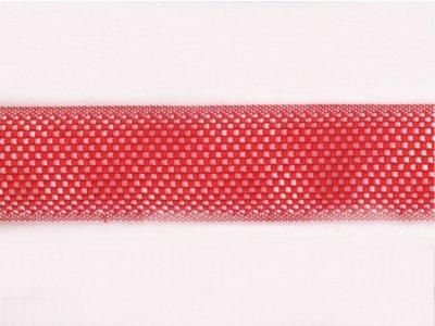 Ripsband glänzend Minivichy 15mm rot