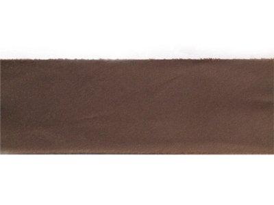 Satin Schrägband ungefalzt 35mm leicht glänzend braun