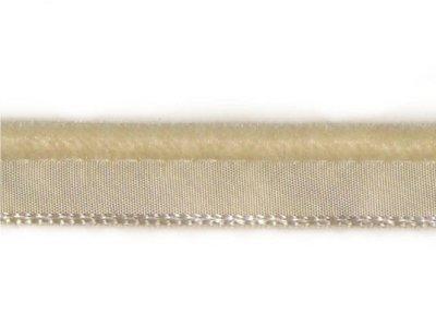 Samt Biese Paspel 10mm uni helles beige