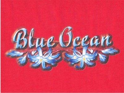 Transfer Blue Ocean zum Aufbügeln