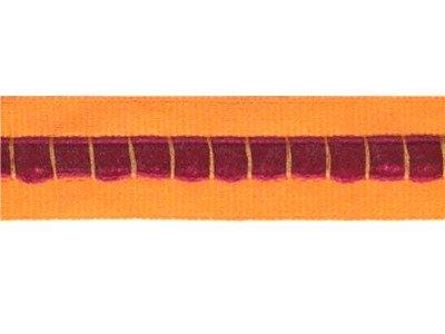Ripsband mit integriertem Samtband 18mm orange