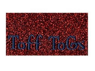 Webetikett 5er-Set rot glitzernd