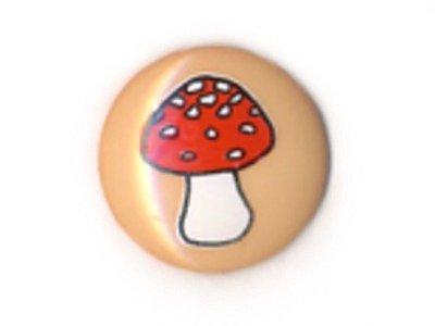 Knopf 15 mm Pilz beige