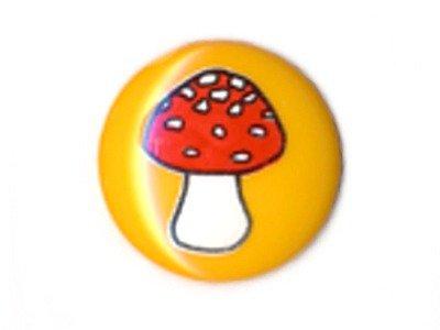 Knopf 15 mm Pilz gelb
