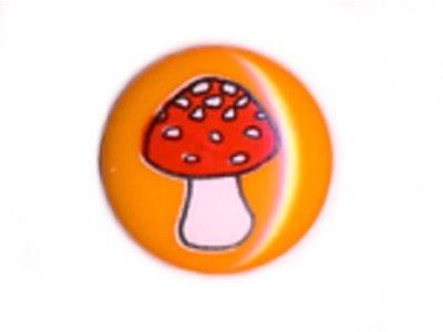 Knopf 15 mm Pilz orange