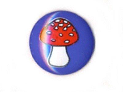 Knopf 15 mm Pilz blau