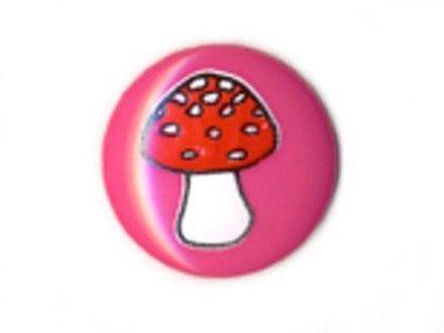 Knopf 15 mm Pilz pink