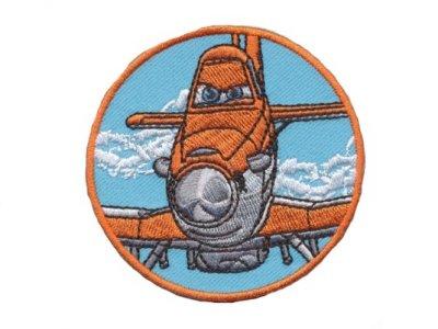 Applikation Disney Planes Dusty rund orange zum Aufbügeln