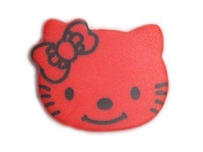 Knopf 18 mm Kitty rot