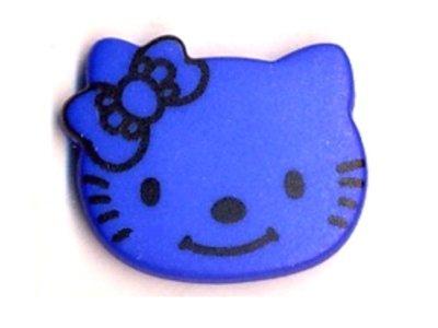 Knopf 18 mm Kitty blau