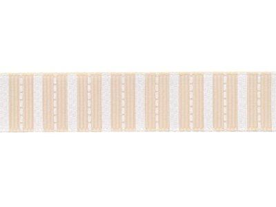 Riley Blake Ripsband Stripes creme 16mm