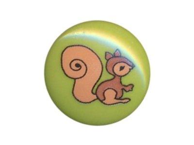 Knopf Eichhörnchen 15mm lime