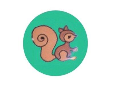 Knopf Eichhörnchen 15mm mint