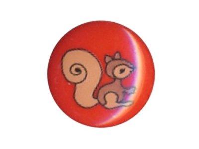 Knopf Eichhörnchen 15mm rot