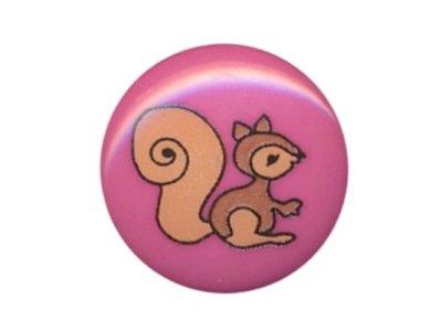 Knopf Eichhörnchen 15mm pink