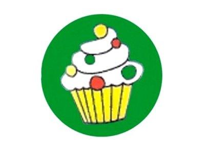 Knopf Cup-Cake 18mm grün